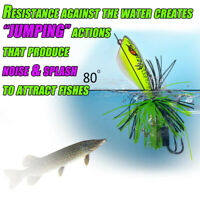 Jumping Frog Lure Topwater Lure 90mm 10g Double Strong Actions U7N3 Jump Ho L3N5