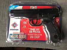 New listing Crosman PSM45 Classic .177 Cal Full Metal BB Gun Air Pistol Spring Powered Black