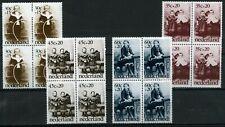 NVPH 1059 - 1062 in postfrisse blokken van 4