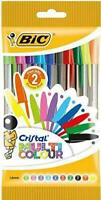 BIC Crystal MulticolourPen Bag Pack of 10 multicoloured