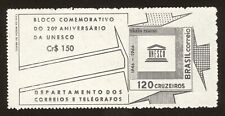 BRAZIL stamp 1966 20TH Anniversary UNESCO Souvenir Sheet-Scott# 1027a  RHM B-19