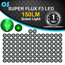 "100X 3/4"" Green LED Side Marker Clearance Light with Clear Len Truck Trailer 12V"