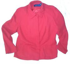 Karen Scott Cardigan Jacket size 14 Women Red Hidden Buttons