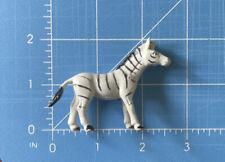 Small Plastic Toy Zebra Figurine Soft Safari Animal Play Figure Approx 2 Inches