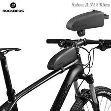 ROCKBROS Waterproof Bike Bag Cycling Top Tube Frame Bag Large Capacity Black S