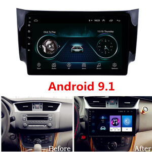 "For Nissan Sentra 2013-2018 10.1"" Android 9.1 Car Stereo Radio GPS Mirror Link"