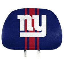 NFL NEW YORK GIANTS PROMARK HEAD REST COVERS UNIVERSAL 2 PACK STRIPED