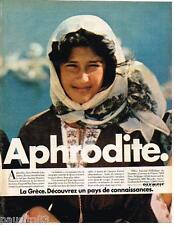 PUBLICITE ADVERTISING 085 1981  OLYMPIC   comapagnie aérienne Grèque  APHRODITE