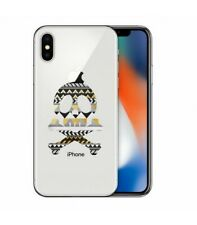 Coque Iphone XR tete de mort aztec transparente
