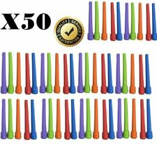 50x LARGE 9 cm Shisha Hookah Mouth Tips Reusable Plastic Mixed Colours Mouthtips