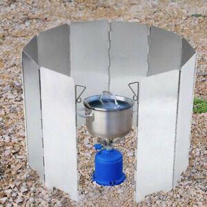 Faltbar Windschutz Platte für Campingkocher Gaskocher Herd Feuer Outdoor Camping