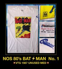 ORIG LICENSED 80s vTg NOS DC Comics book Bob Kane No 1 BATMAN ROBIN DS T-Shirt M