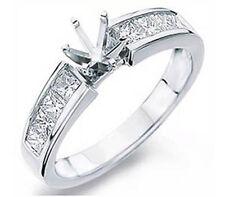 0.75Ct Princess Channel Diamond G VS2 Setting Engagement Ring 14k Gold White