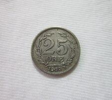 SWEDEN. SILVER 25 ORE, 1904. KING OSCAR II.