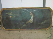 OLD VINTAGE RELIGIOUS JESUS ON MOUNT OLIVE PICTURE