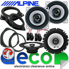 Vauxhall Astra H MK5 2004-10 Alpine 800 Watts Front & Rear Door Car Speakers Kit