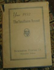 """1952 yearbook BIRMINGHAM SOUTHERN COLLEGE year book ALABAMA """"Southern Accent"""""""