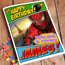 EXTRA LARGE Spider-Man **Personalised A4 Birthday Card** Spiderman Grandson Son