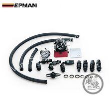 EPMAN Universal Negro/Rojo Ajustable Regulador de presión de combustible Kit con manómetro de aceite