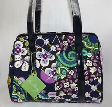 VERA BRADLEY PURSE FRAME SATCHEL - FLORAL NIGHTINGALE - PATCHWORK - NEW WITH TAG