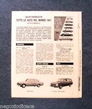 AY12 - Clipping-Ritaglio -1967- SUPPLEMENTO QUATTRORUOTE TUTTE LE AUTO