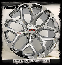 20 inch chrome Snowflake GMC Sierra 1500 Denali OE factory replica wheels 6x5.5
