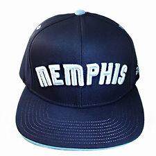 Adidas NBA Memphis Grizzlies Snapback Hat Classic Blue Color Graphic Undervisor