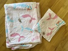 Pottery Barn Kids Duvet And Sham Twin Size Mermaid Pink