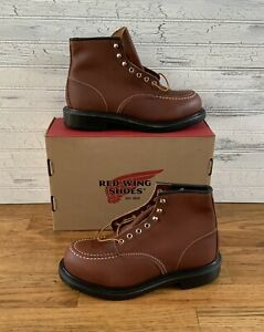 Red Wing 8249 Moc Toe Work Boots Long Wear Sole Size 9.5 EEE Factory Second NWB