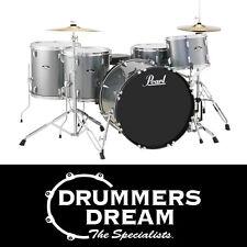 "Pearl Roadshow Rock 5 Piece 22"" Drum Kit w/ Hardware & Cymbals Charcoal Metallic"
