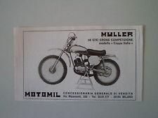 advertising Pubblicità 1974 MOTO MULLER 50 GTC CROSS COMPETIZIONE
