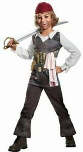 Captain Jack Sparrow Costume Child M 7-8 NWT Pirates of the Caribbean 5 Cosplay