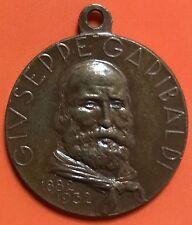 """MEDAGLIA GIUSEPPE GARIBALDI 1882-1932 """"FATTA L'ITALIA FAI GLI ITALIANI"""""""