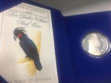 1993 $10 BIRDS OF AUSTRALIA PALM COCKATOO Silver Proof Coin