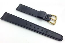 Vintage Womans Watch Band Genuine Calf Hide Leather Band 9/16 XS Black I627