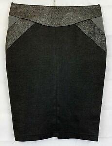 RIVER ISLAND Womens Black Pencil Skirt Size 12