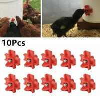 10*Automatic Cups Water Feeder Drinker Chicken Waterer Poultry Chook Bird