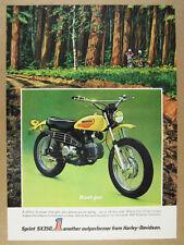 1972 Harley-Davidson SX350 SPRINT motorcycle photo & art vintage print Ad