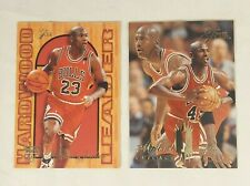 1994-95 FLEER FLAIR MICHAEL JORDAN (2) CARD LOT  #326 & HARDWOOD LEADERS #4