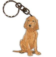 Irish Setter Wooden Dog Breed Keychain Key Ring