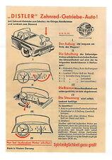 Anleitung für den Distler Wanderer, Packard, Ford, Mercedes