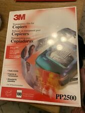 """New listing 3M Transparency Film For Copiers 8.5 X 11"""" Pp2500 Factory Sealed 100 sheets New"""