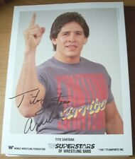 Vintage 1987 WWF Tito Santana 8 1/2 x 10 1/2 Photo/Photos'
