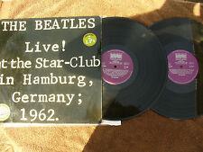 BEATLES double LP SET LIVE HAMBURG 1962 Bellaphon 5560 German issue g/f