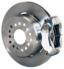 "WILWOOD DISC BRAKE KIT,REAR PARKING,2005-NEWER FORD MUSTANG,12"",POLISHED CALIPER"