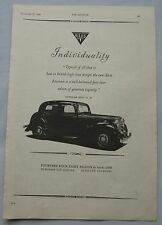 1947 Alvis Fourteen Four Light Saloon Original advert