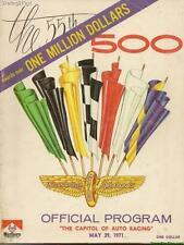 1971 Indianapolis 500 Program Al Unser Johnny Lightning  Condition Poor