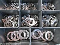 175 Edelstahl V2A Beilagscheiben BOX DIN 433 M2-M12 für Zylinder Schrauben