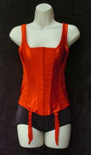 Crepe Suzette Foundations Fancy 4 Strap Red Corset Size 36