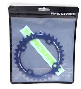 RaceFace Narrow Wide Chainring: 104mm BCD, 34t, Blue